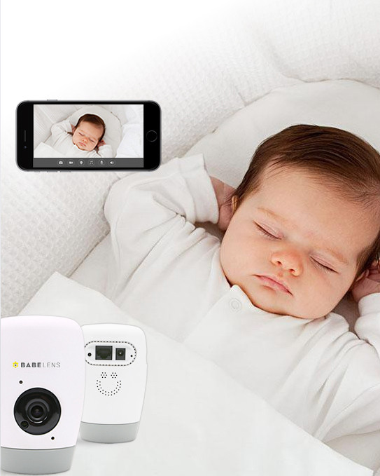 Babelens 1080P Wireless Camera with Night light, Mp3 Player, Motion Activated