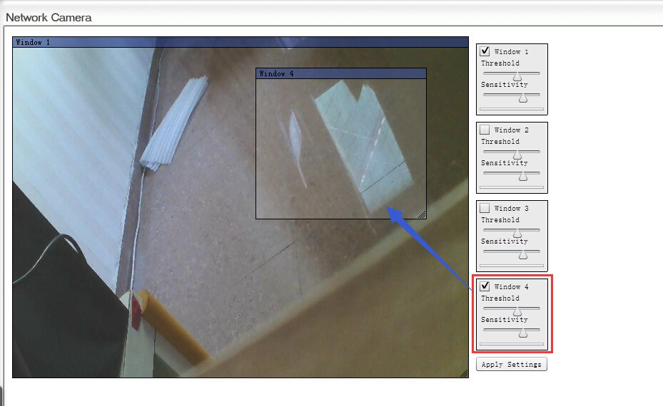 Motion detection zone